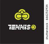 tennis logo  tennis balls | Shutterstock .eps vector #666252934