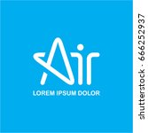 air logo  a letter  star logo   Shutterstock .eps vector #666252937