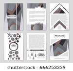 abstract vector layout... | Shutterstock .eps vector #666253339