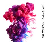 color drop in water isolated on ... | Shutterstock . vector #666257731