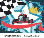 karting  layout on a sports... | Shutterstock .eps vector #666262519