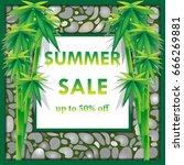 vector illustration. summer... | Shutterstock .eps vector #666269881