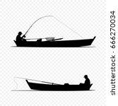 Fisherman On Boat Black...