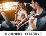 happy beautiful couple is... | Shutterstock . vector #666270514