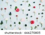 flowers pattern texture made of ...   Shutterstock . vector #666270805
