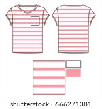 Pink Striped Tshirt With Pocke...