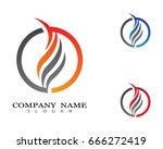 fire flame logo | Shutterstock .eps vector #666272419