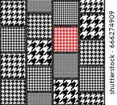 seamless background pattern.... | Shutterstock .eps vector #666274909