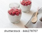 Glass Jars Of Pudding From Chia ...