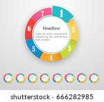 vector circle infographic....   Shutterstock .eps vector #666282985
