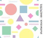 seamless pattern. geometric... | Shutterstock .eps vector #666292501