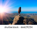 hiking in the crimea mountains | Shutterstock . vector #66629254