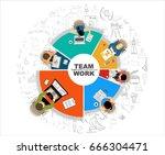 flat design illustration... | Shutterstock .eps vector #666304471