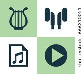 music icons set. collection of... | Shutterstock .eps vector #666310051