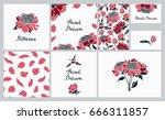 corporate identity. set of... | Shutterstock .eps vector #666311857