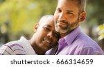 portrait of homosexual couple... | Shutterstock . vector #666314659