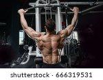 brutal strong bodybuilder... | Shutterstock . vector #666319531