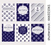 set of nautical and marine... | Shutterstock .eps vector #666321061