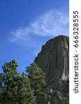 devils tower  also know as bear ... | Shutterstock . vector #666328555