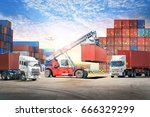 logistics import export...   Shutterstock . vector #666329299
