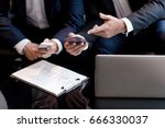 business man meeting with team  | Shutterstock . vector #666330037