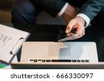 business man work with... | Shutterstock . vector #666330097