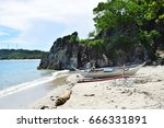 boat and fisherman's house in... | Shutterstock . vector #666331891