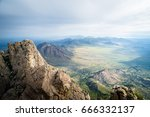 view from the organ needle in... | Shutterstock . vector #666332137