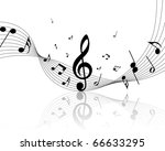 musical notes staff background... | Shutterstock . vector #66633295