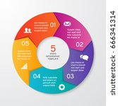 circle arrows for infographics. ... | Shutterstock .eps vector #666341314