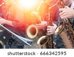 world jazz festival. saxophone  ... | Shutterstock . vector #666342595