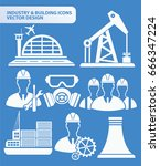 industry and building icon set... | Shutterstock .eps vector #666347224