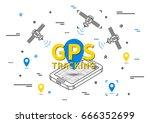 gps tracking vector...   Shutterstock .eps vector #666352699