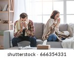 young family couple together at ... | Shutterstock . vector #666354331