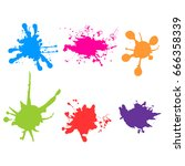 vector color paint splatter.... | Shutterstock .eps vector #666358339