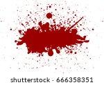 vector red color  splatter... | Shutterstock .eps vector #666358351