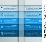 vector abstract 3d paper... | Shutterstock .eps vector #666364471
