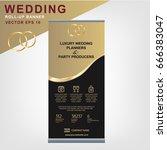 eye catching wedding planning... | Shutterstock .eps vector #666383047