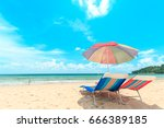 ka ron beach at phuket  ... | Shutterstock . vector #666389185