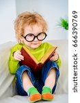small three year old boy in... | Shutterstock . vector #666390769