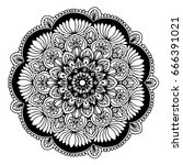 mandalas for coloring book.... | Shutterstock .eps vector #666391021