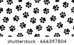 cat paw dog paw kitten vector... | Shutterstock .eps vector #666397804