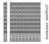 asian frame ornament  pattern... | Shutterstock .eps vector #666399127