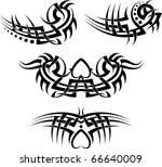 tribal tattoo set | Shutterstock .eps vector #66640009