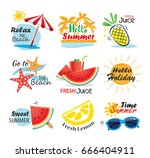 summer label  banner  tag and... | Shutterstock .eps vector #666404911