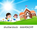back to school concept student... | Shutterstock .eps vector #666406249