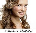 attractive woman portrait on... | Shutterstock . vector #66640654