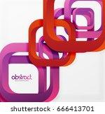 square vector background  3d... | Shutterstock .eps vector #666413701