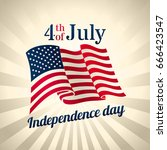 american independence day...   Shutterstock .eps vector #666423547