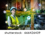 industry and internet of things ... | Shutterstock . vector #666426439